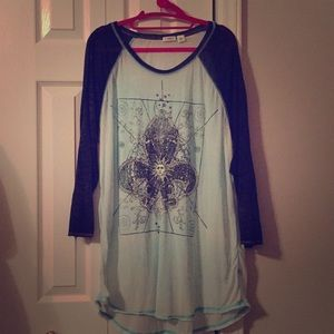 Cato XL blue and gray tunic like shirt